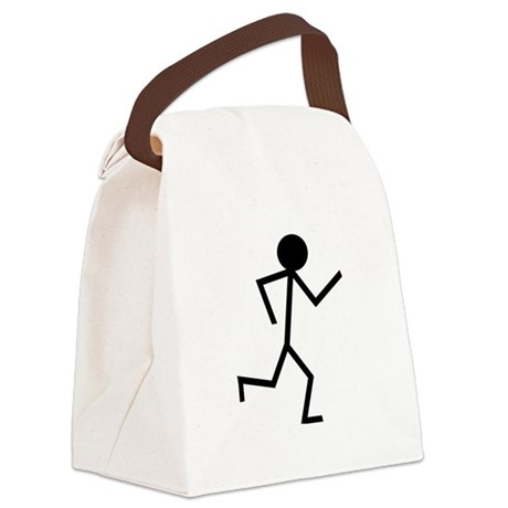 Running Stickman.png Canvas Lunch Bag