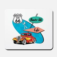 Red Hot Rod Route 66 Diner Mousepad