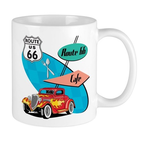 Red Hot Rod Route 66 Diner Mug