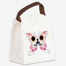 Sugar Skull Multi Color Butterfly.png Canvas Lunch