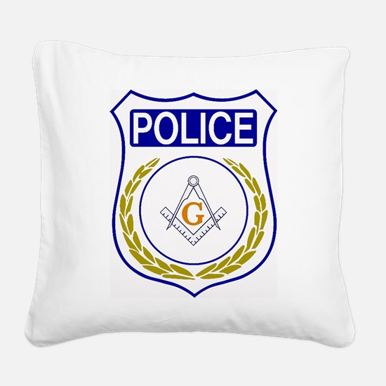 Police - Masonic Square Canvas Pillow