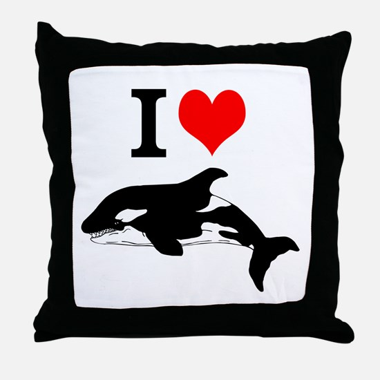 Whale Song Throw Pillow