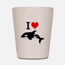 Whale Song Shot Glass