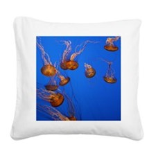 Jelly Fish Square Canvas Pillow