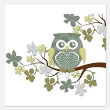 Polka Tree Owl.png Invitations