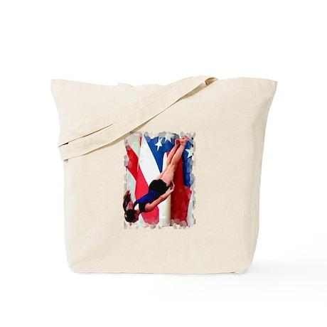 Trampoline Gymnast Tote Bag