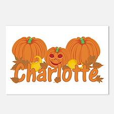 Halloween Pumpkin Charlotte Postcards (Package of