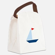 Red Flag Sail Boat Canvas Lunch Bag