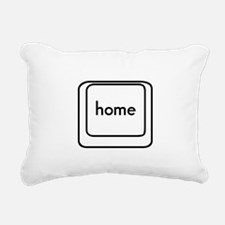 Home Button Rectangular Canvas Pillow
