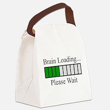 Brain Loading Bar Canvas Lunch Bag