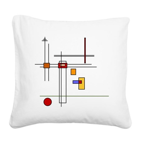 Skware Skare Square Canvas Pillow