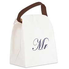 Mr-Blue.png Canvas Lunch Bag