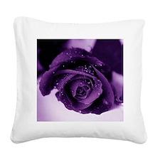 Purple Rose Square Canvas Pillow