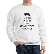 Keep Calm and Back Away Slowly Sweatshirt