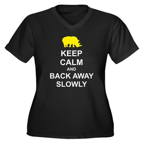Keep Calm and Back Away Slowly Women's Plus Size V