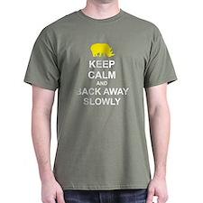 Keep Calm and Back Away Slowly Dark T-Shirt