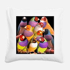 Gouldian Finch Square Canvas Pillow