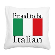Italy Square Canvas Pillow