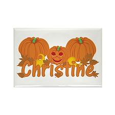 Halloween Pumpkin Christine Rectangle Magnet