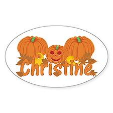 Halloween Pumpkin Christine Decal
