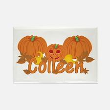 Halloween Pumpkin Colleen Rectangle Magnet