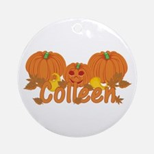Halloween Pumpkin Colleen Ornament (Round)