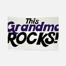 This Grandma ROCKS Rectangle Magnet