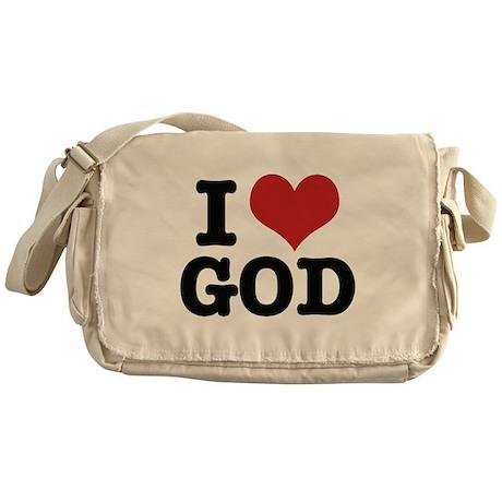 I LOVE GOD Messenger Bag