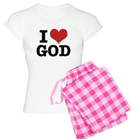 I LOVE GOD Women's Light Pajamas