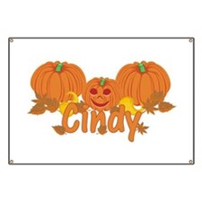 Halloween Pumpkin Cindy Banner