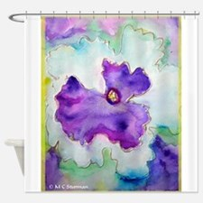 Pansy! Flower art! Shower Curtain