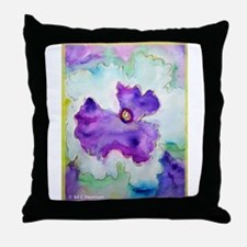 Pansy! Flower art! Throw Pillow