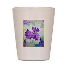 Pansy! Flower art! Shot Glass