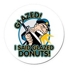 Police Glazed Donuts Round Car Magnet