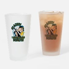 Police Glazed Donuts Drinking Glass