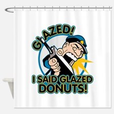 Police Glazed Donuts Shower Curtain