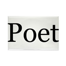 Poet Rectangle Magnet