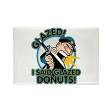 Police Glazed Donuts Rectangle Magnet