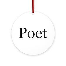Poet Ornament (Round)