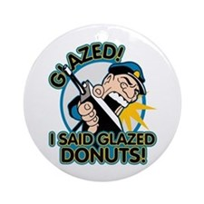 Police Glazed Donuts Ornament (Round)