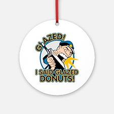 Police Glazed Donuts Ornament (Round)