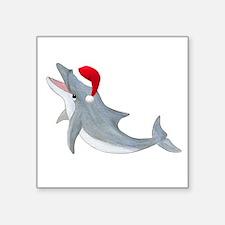 """Santa - Dolphin Square Sticker 3"""" x 3"""""""