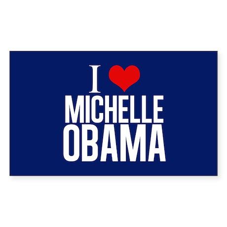 I Love Michelle Obama Sticker (Rectangle)