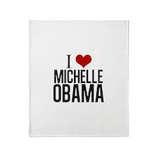I Love Michelle Obama Throw Blanket