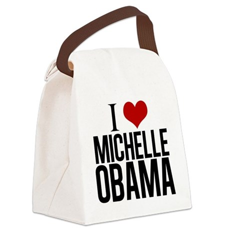 I Love Michelle Obama Canvas Lunch Bag