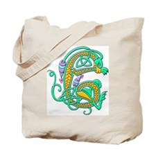 Illuminated Letter e Tote Bag