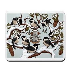 Chickadees Mousepad