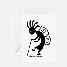 Kokopelli Backpacker Greeting Cards (Pk of 10)