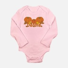 Halloween Pumpkin Debbie Long Sleeve Infant Bodysu