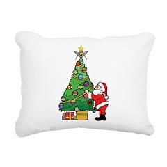 Santa and our star Rectangular Canvas Pillow